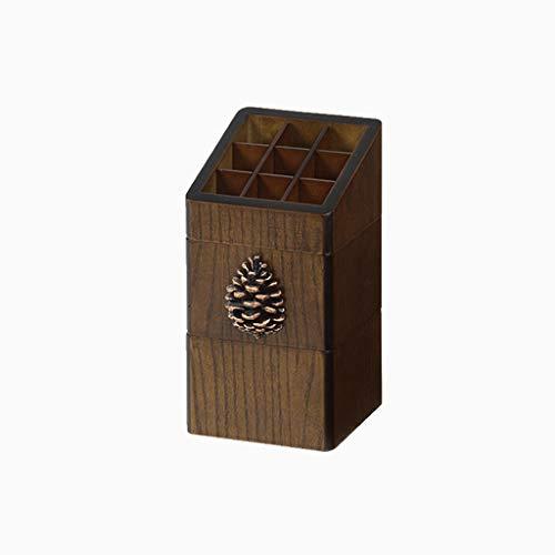 Boîte de Rangement en Bois for Rack de Rouge à lèvres Rack de Stockage for sous-Grille Trousse à Maquillage FANJIANI