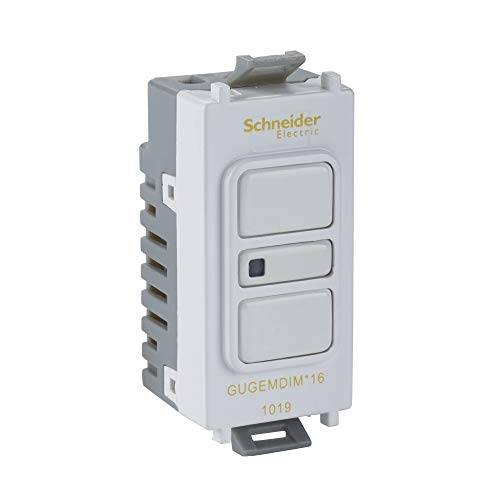 Schneider Electric GUGEMDIMWPW16 Ultimate Grid System - Dimmer elettronico a 2 vie, retrattile, colore: Bianco/Bianco