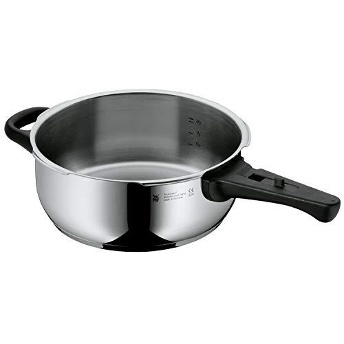 WMF Perfect Schnellkochtopf- Unterteil Induktion 3,0l, Dampfkochtopf ohne Deckel, Cromargan Edelstahl poliert