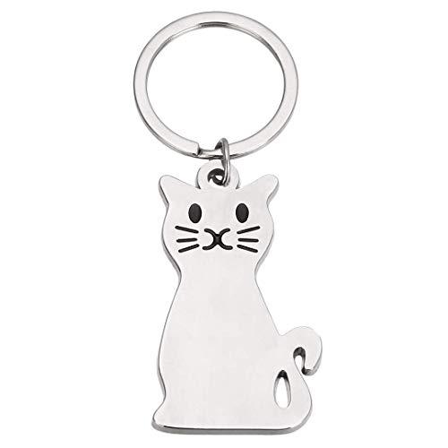 Cat Keychains Keyring Charm Women Cute Cattie Keyring Metal Cat Keychain Car Bag Charm Cat Tag Key Chain Illinois