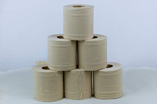 Toilettenpapier 100% Bambus, 96 Rollen unverpackt, 3-lagig, 200 Blatt/Rolle