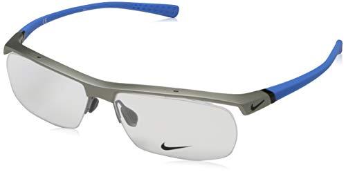Nike Herren 7071/2 080 57 Brillengestelle, Blau (Matte Platinum/Slate Bluee)