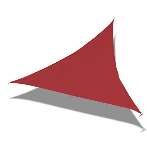 Laxllent Toldo Vela de Sombra,Protección Rayos UV,Impermeable y Resistente,Toldo para Jardín Balcón Terraza Coche y BBQ,con Cuerda Libre,PES,Triángulo,5x5x5m,Terracotta