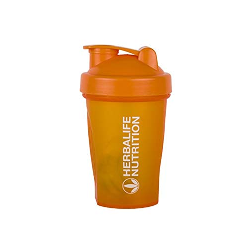 400ML Milkshake Protein Powder Shaker Water Bottle Sports KettleDrinkware Drink Cup BPA Free - orange,400ml
