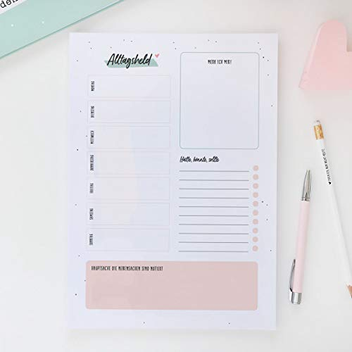 Odernichtoderdoch Schreibtisch Organizer | Alltagsheld | DIN A4-50 Blatt