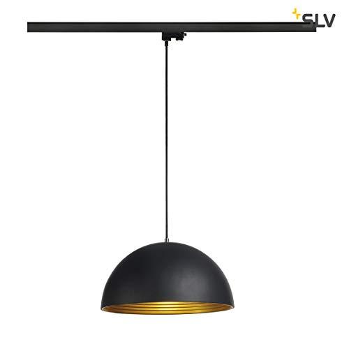 SLV FORCHINI M Pendelleuchte für Hochvolt-Stromschiene 3Phasen, Stahl, E27, schwarz/Gold