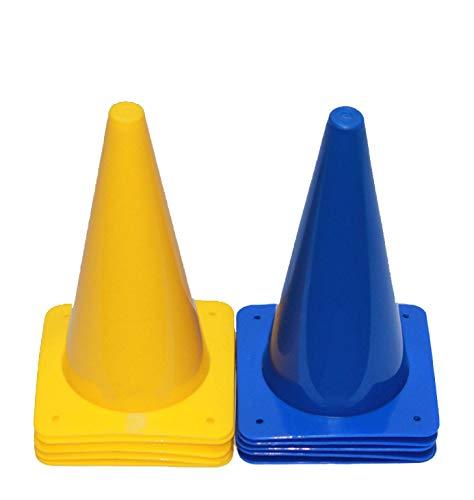 Boje Sport 10er Set Markierkegel, Pylonen, Pferdesport, Reitsport, Hundesport, Koordinationstraining, Ausdauertraining und Sprinttraining, 30 cm, Farbe 5 x blau/ 5 x gelb