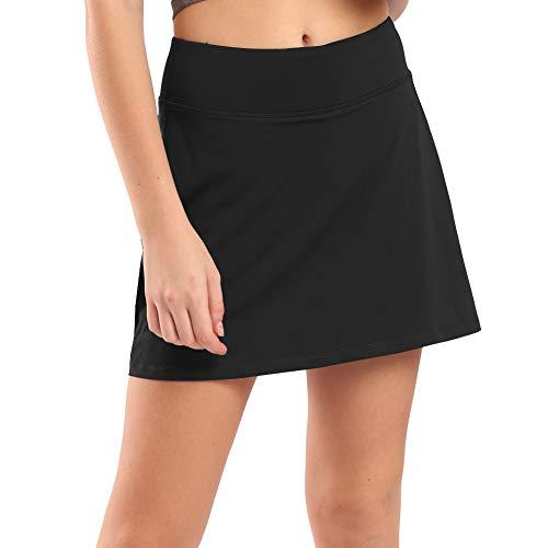 Ogeenier Damen Skort Sport Hosenrock mit Tasche & Innenhose Tennisrock Skirt für Laufen Tennis Golf