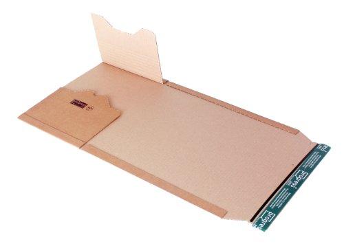 progressPACK Universal-Versandverpackung Premium PP B02.08 aus Wellpappe, DIN A4, 300 x 220 x bis 80 mm, 20-er Pack, braun, P2-5938