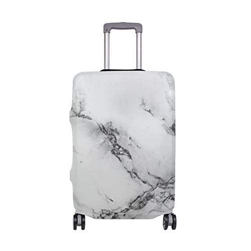 Suitcase Cover Marble Texture Lightweight Luggage Cover Protector Fits 18-32 inch