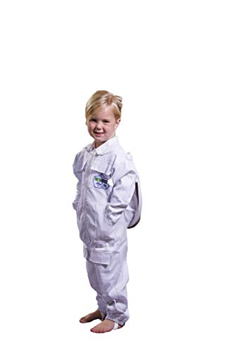NewBee Children's Beekeeping Protective Cotton Suit w/Domed (Fencing Style) Veil (M)