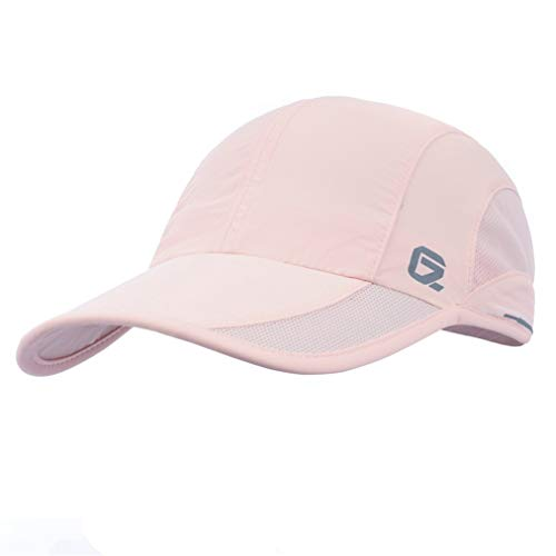 GADIEMKENSD Quick Dry Sports Hat Lightweight Breathable Soft Outdoor Run Cap (Classic up, DeepPink)