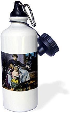 GFGKKGJFD624 Escenas del pasado – Linterna mágica – Vida familiar de la madre y los niños linterna mágica de aluminio deportes botella de agua novedad divertido para hombres mujeres niños Navidad Bithtday regalos