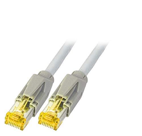 INS Cat. 6a Premium Patchkabel S/FTP, TM31, UC900 SS27, Verschiedene Längen und Farben (3m, grau)