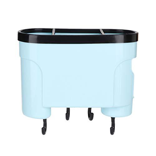 Astibym Rejilla de Drenaje de Cocina, Soporte de Herramientas de Cocina Fuerte, un Orificio de Drenaje, Rejilla de Secado, Cocina para Uso doméstico(Azul)