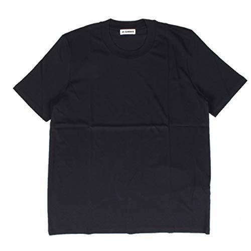 JIL SANDER CREW NECK T-SHIRT ジルサンダー Tシャツ 半袖 カットソー JSMP706020 MP247308 S ブラック [並行輸入品]