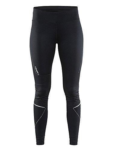Craft Essential Collant de Running Femme, Noir, FR : S (Taille Fabricant : 36: S)