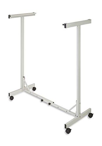 Adir Corp. Mobile Blueprint Storage - Horizontally Adjustable Vertical Poster Display Rack/Plans Holder - File Organizer Stand for Home, Office (Sand Beige)