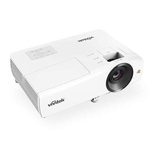 VIVITEK HK2200 proiettore home cinema, compatto 4K UHD, HDMI, USB, mirroring wireless, Chromecast, fino a 300  diagonale, 2000 lumen, altoparlanti integrati, Bianco