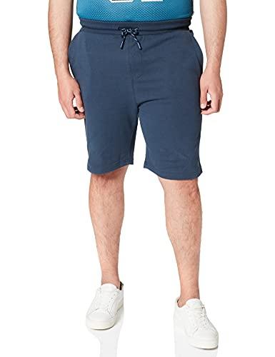 Springfield Camiseta Manga Larga Jogger Terry, Azul Medio, XL para Hombre