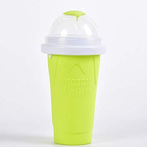 Vasos para granizados caseros mágicos congelados para hacer smoothie cup, capacidad de 300 ml (uso en gran capacidad de 210 ml) (cian de tercera generación)