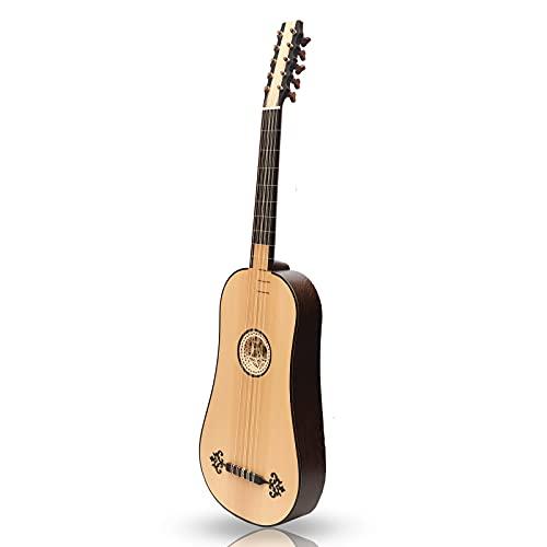Muzikkon Guitarra Barroca Sellas 5 Curso Wenge
