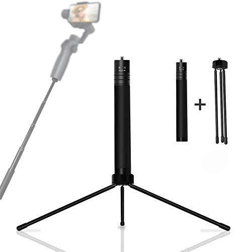 SUMGOTT Handstabilisator Verlängerungsstange Einbeinstativ Stativ Teleskopstange mit 1/4 Zoll Schraube Maximale Länge 73cm für DJI Osmo Mobile 2/3/4 / Ronin S/Smooth Q & 4 / Feiyu G5 Stabilisator