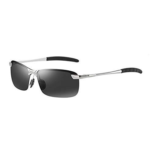 Classic Luxury Men's Polarized Sunglasses para hombres Mujeres Conduciendo Pesca Pista de senderismo Gafas de sol Vidrios Vintage Vidrios Hombre Sombras UV400 ( Lenses Color : 03 SILVER BLACK )
