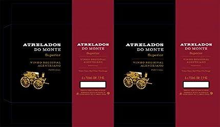 Atrelados do Monte - Selección superior de vino tinto de Alentejo, botella de 75 cl (6 botellas)