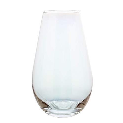 WYH Crystal Parelmoer kleurrijke plating glas vaas bloem arrangement water bloem huisdecoratie woonkamer decoratie Glad