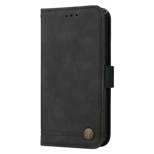 Coque pour iPhone 12 Minchi 5.4inch Portefeuille, Housse en Cuir avec Porte Carte Fermeture par Rabat Aimanté Antichoc Étui Case pour iPhone 12 Mini - DEYY210047 Noir