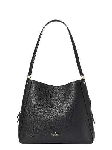 Kate Spade Leila Medium Triple Compartment Shoulder Bag (Black)