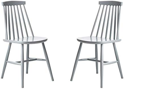 Satz von 2 Stühlen Massivholz Esszimmerstuhl, Küchenstuh, Holzstuhl Gastro Qualität (Grau) Fameg in Europa hergestellt, Klassisches Design, Sorgfältige Ausführung, Polnische Produktion