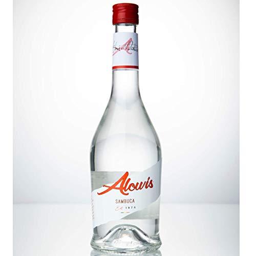 Alowis Sambuca hochwertiger Likör, hergestellt aus Stern-Anis aus dem Mittelmeerraum | 0.7 l / 38% Vol.