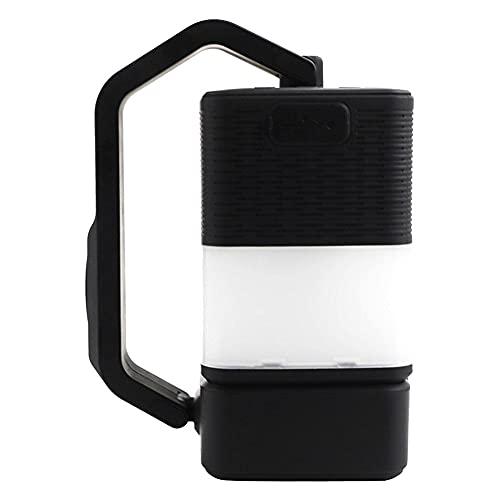 Altavoz Bluetooth portátil al Aire Libre Que acampa Linterna portátil inalámbrico luz de la Noche para el hogar Jardín Senderismo Pesca Emergencia Negro