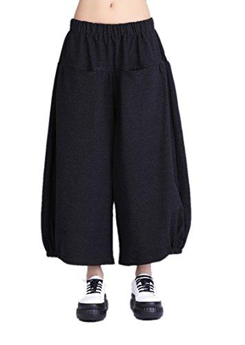 KATUO -  Pantaloni  - Straight  - Donna Black Large