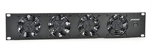 PROCOOL T480-E / 2U Rack Mount Exhaust Fan/High Power Cooling System/Industrial Cabinet Cooling Network Server IT Rack Mount Fan Panel 19'