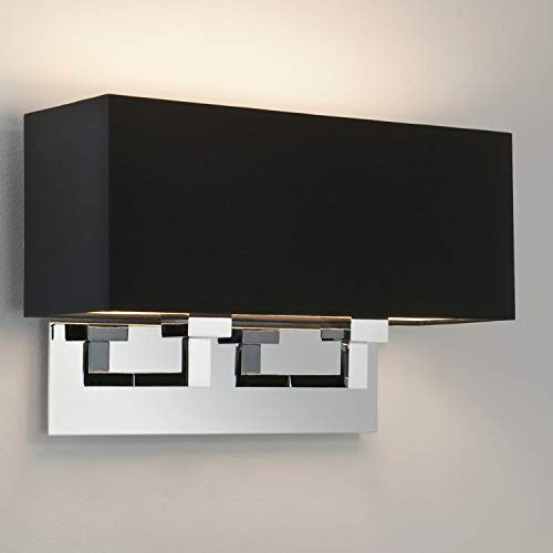 Astro Lighting - Applique murale abat-jour Park Lane Grande Twin Chrome poli