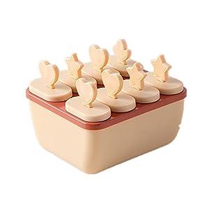 アイスキャンディメーカー アイスキャンディー型 製氷器 アイスキャンディーモールド シリコン 安全無毒 製氷皿 冷凍トレイ 取出し簡単 ピンク