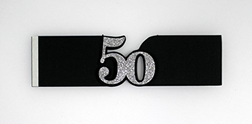 All About Details Black & Silver 50 Napkin Holders, Set of 12, 7 x 2