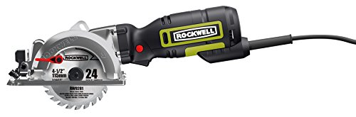 "Rockwell RK3441K 4-1/2"" Compact Circular Saw, 5 amps, 3500 rpm with Dust Port and..."