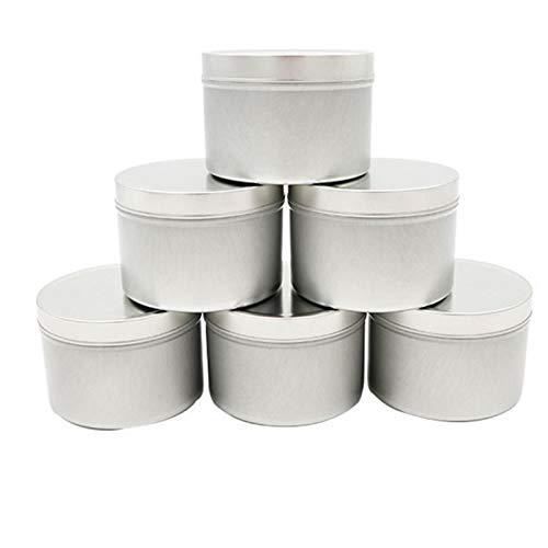 GEZICHTA Candle Tin 12pcs DIY Balms und Party Favor 4 Oz Empty Jar Tinplate Multipurpose Salves with Lid Container Accessories Storage Box(Silver)