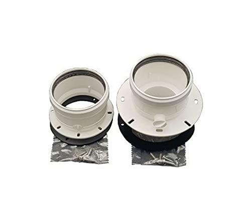 Kit de desagüe para caldera de conductos separados 80-80 termet, sin humos, plástico PPS