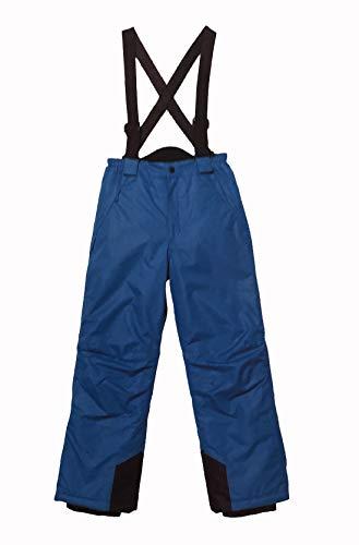 Pocopiano Schneehose Kinder Skihose Thermohose Snowboardhose Jungen und mädchen Gr. 116 bis 164 (128, Blau)