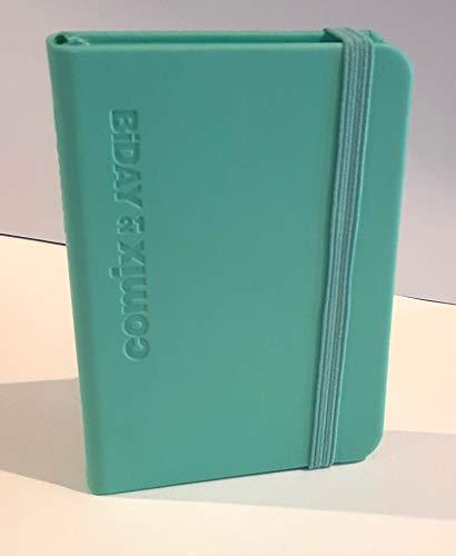 AGENDA 2021 COMIX MINI BI-GIORNALIERA 12 mesi DAY verde acqua 7x10 cm CON ELASTICO e Segnalibro