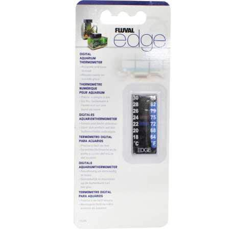 Fluval EDGE digitale aquarium thermometer - 18 ° C tot 30 ° Celsius (64 ° tot 86 ° F)
