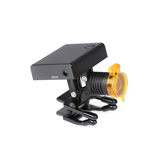 3W Dental LED Wireless Headlight with Optical Filter for Medical Binocular Loupes Glasses DY-010