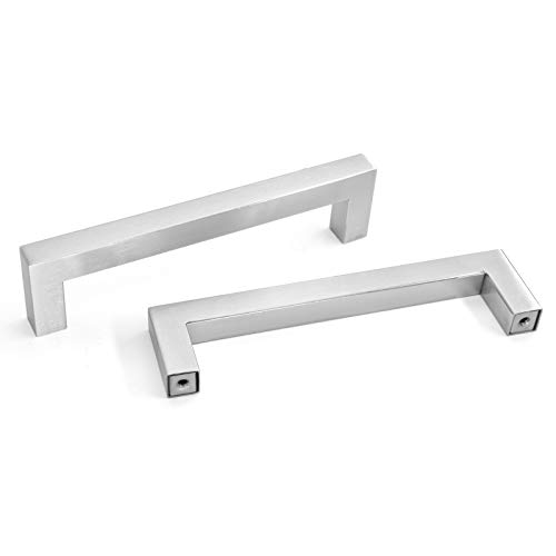 Cabinet Handles Brushed Nickel Kitchen Cabinet Handles 10 Pack OYX 4#039#039 Cabinet Hardware Modern Stainless Steel Kitchen Drawer Pulls Cabinet Drawer Handles 5in Hole Centers