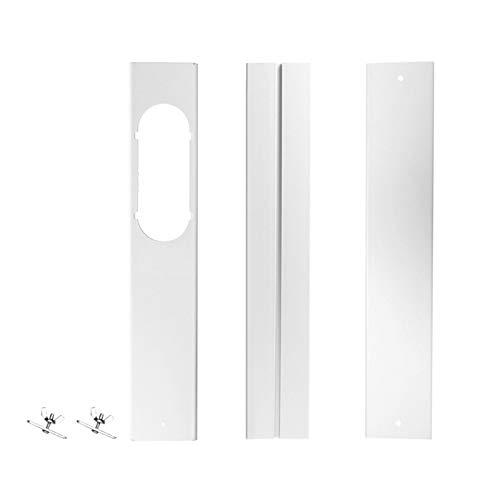 Linsition 3 stuks raamafdichtingsplaat airconditioning raamafdichting kit 1,55-160 cm instelbaar venster slide kit plaat voor mobiele airconditioning en afvoerdrogers, geen boren nodig