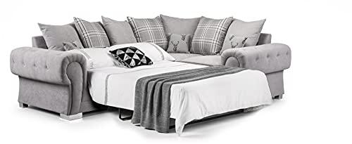 Honeypot - Sofa - Verona - 2C2 Ecksofa - 2C1 Ecksofa - 3-Sitzer Schlafsofa - grau (rechte Ecksofabett)